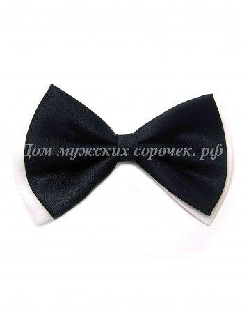 Детский галстук-бабочка черный
