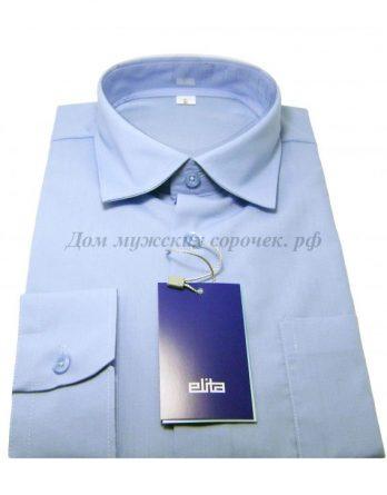 Детская рубашка для мальчика небесного цвета