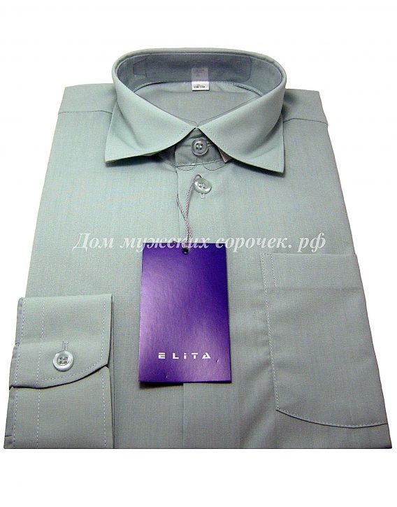 Рубашка для мальчика зеленого цвета