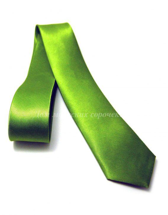 Галстук Classic зеленого цвета, однотонный