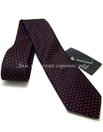 Галстук мужской Recardo Lazzotti черного цвета, украшенный ярким узором