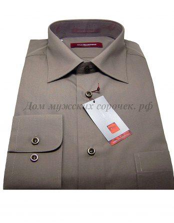 Мужская рубашка Allan Neumann коричневого цвета, с длинным рукавом