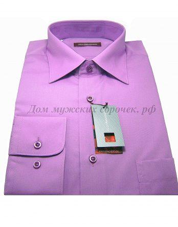 Мужская рубашка Allan Neumann сиреневого цвета, с длинным рукавом