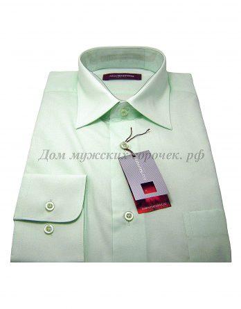 Мужская рубашка Allan Neumann светло-зеленого цвета, с длинным рукавом