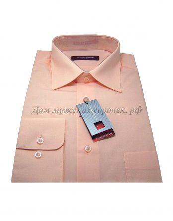 Мужская сорочка Allan Neumann абрикосового цвета, с длинным рукавом