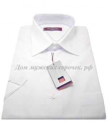 Мужская сорочка Allan Neumann белого цвета, с коротким рукавом