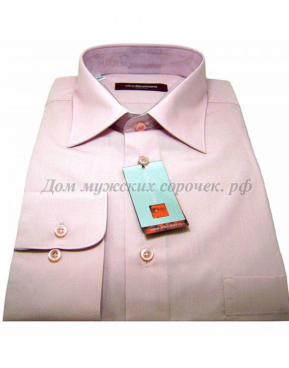 Мужская сорочка Allan Neumann бледно-розового цвета, с длинным рукавом