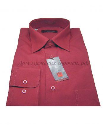 Мужская сорочка Allan Neumann малинового цвета, с длинным рукавом