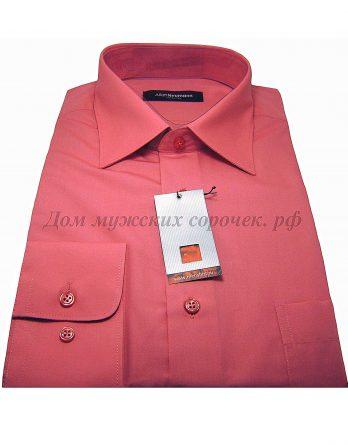 Мужская сорочка Allan Neumann розового цвета, с длинным рукавом