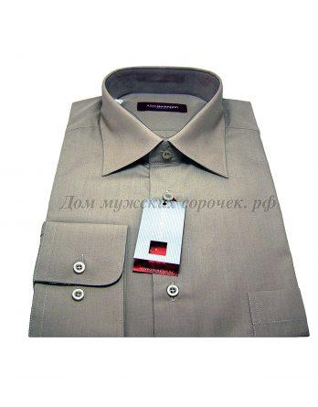 Мужская сорочка Allan Neumann серого цвета, с длинным рукавом