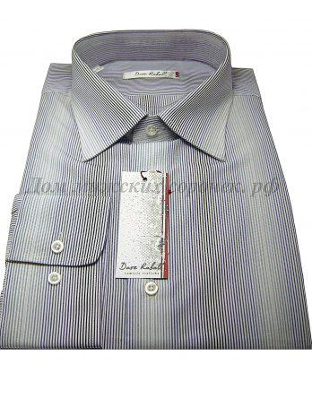 Мужская сорочка Dave Raball белого цвета, в цветную полоску, с длинным рукавом