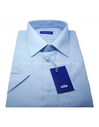 Мужская сорочка Elita голубого цвета, с коротким рукавом