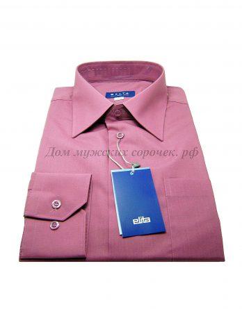 Мужская сорочка Elita, лилового цвета, с длинным рукавом