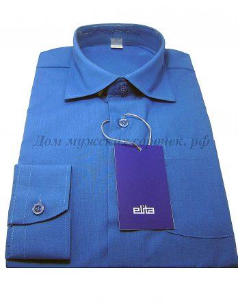 Мужская сорочка Elita синего цвета, с длинным рукавом