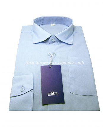 Мужская сорочка Elita светло-голубого цвета, с длинным рукавом