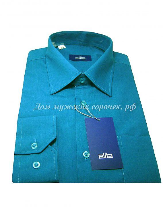 Мужская сорочка Elita, цвета морской волны, рукав длинный