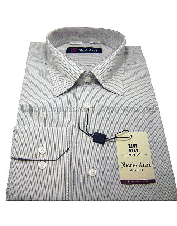 Мужская сорочка Nicolo Angi в полоску, с длинным рукавом