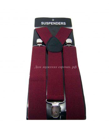 Мужские подтяжки бордовые Suspenders