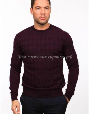 Бордовый свитер с круглым вырезом