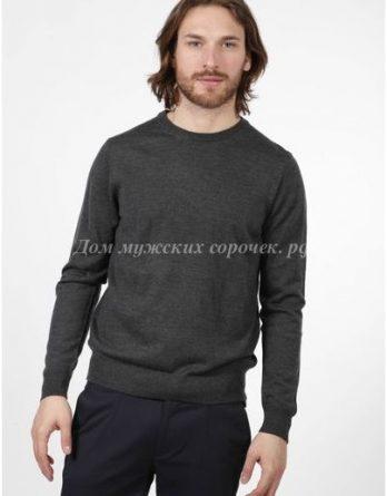 Серый мужской свитер, однотонный