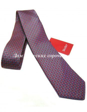 Галстук мужской Vester красного цвета, крупный геометрический узор