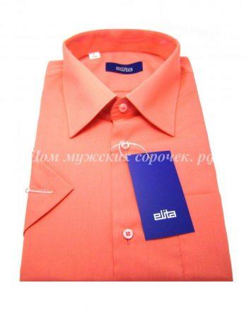 Мужская сорочка Elita кораллового цвета, с длинным рукавом