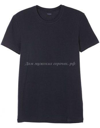 Мужская футболка из эластичного хлопка, темно-серого цвета