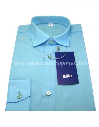 Детская рубашка Elita светло-бирюзового цвета