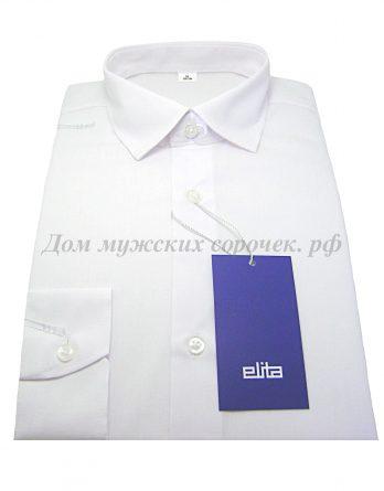 Детская рубашка белая однотонная Элита