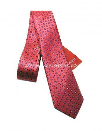 Красный галстук с принтом синего цвета