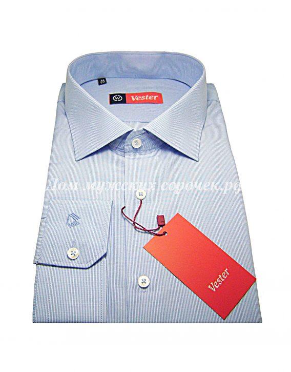 Мужская рубашка Vester белого цвета в голубую полоску
