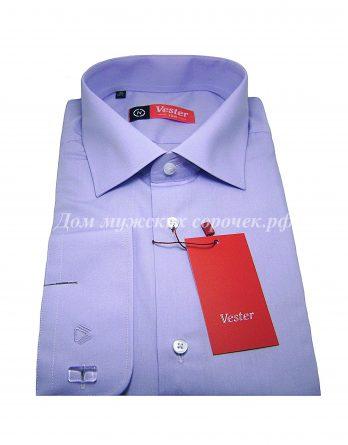 Мужская рубашка Vester сиреневого цвета, однотонная, рукав под запонку