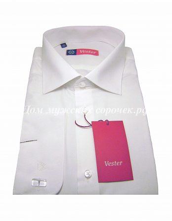 Мужская рубашка Vester цвета шампань, однотонная, рукав под запонку