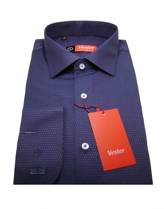 Мужская рубашка Vester фиолетового цвета, рукав длинный