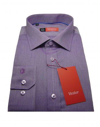 Мужская рубашка Vester светло-сиреневого цвета с принтом, рукав длинный